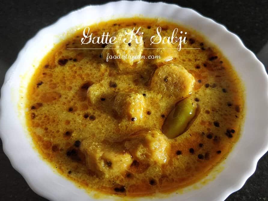 Gatte ki Sabji – Rajasthani Yogurt Gravy with Besan Dumplings